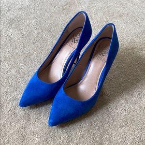 Vince Camuto blue suede pumps